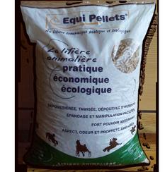 Litière animalière Équi pellets conditionnée en sac de 15kg